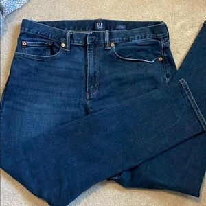 Dark blue gap men's jeans 33x32